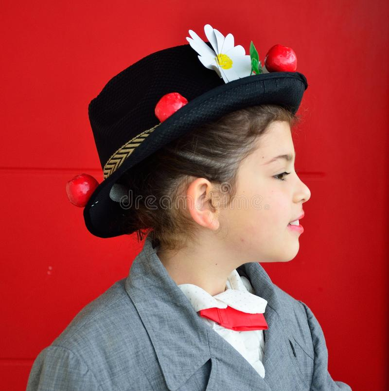 Kleine Mary Poppins lizenzfreie stockbilder