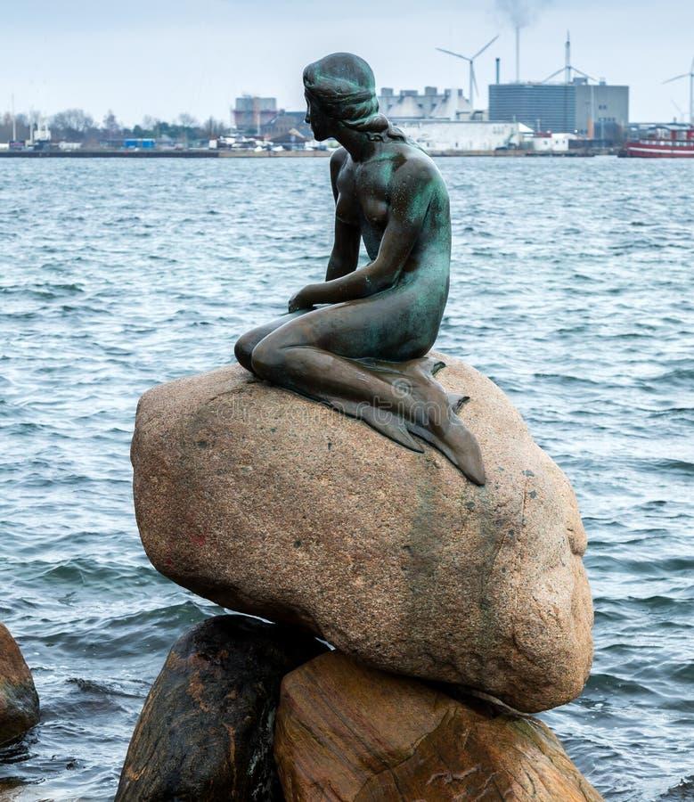 Kleine Meerjungfrau Kopenhagen stockbilder