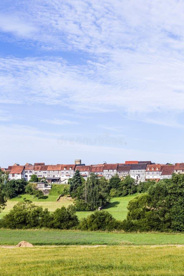 Kleine middeleeuwse stad Walsdorf royalty-vrije stock afbeelding