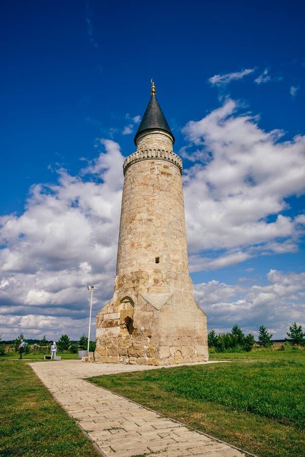 Kleine Minaret in Bolghar-Heuvelfort stock afbeelding
