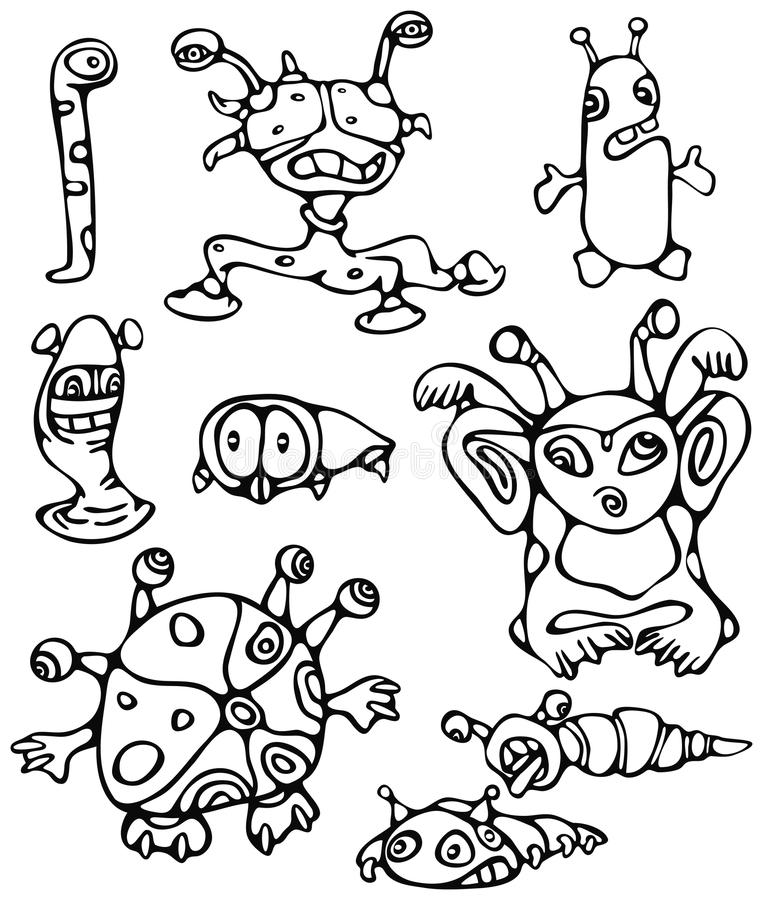 Kleine monsters vector illustratie
