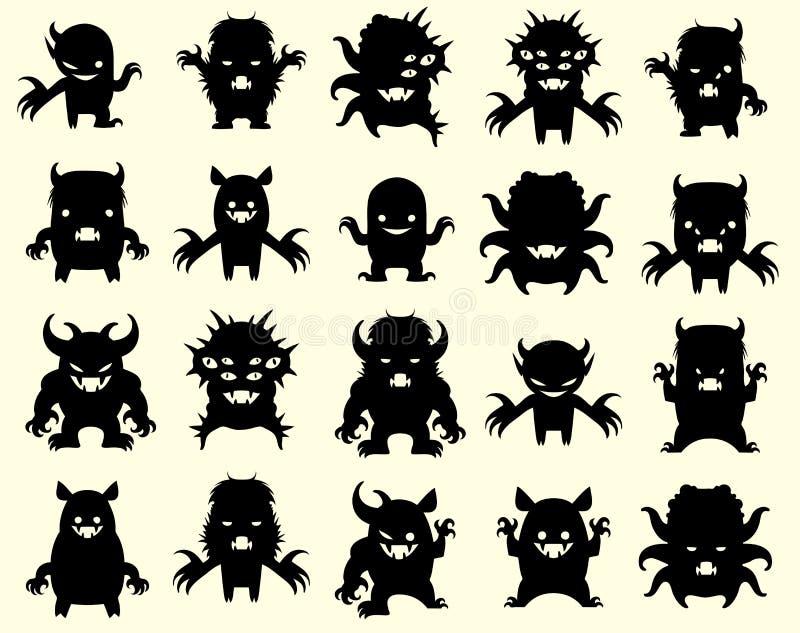 Kleine monsters vector illustratie
