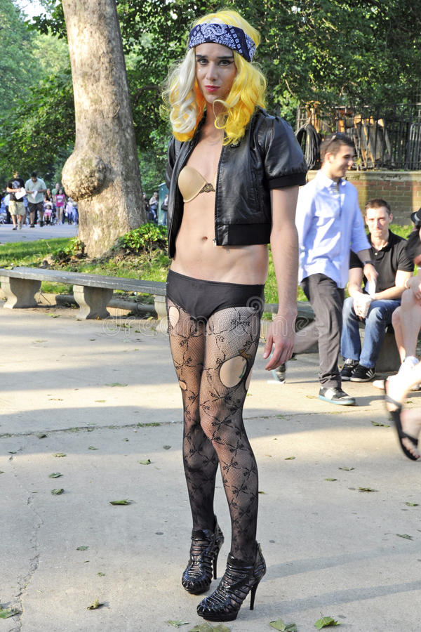 Kleine Monsters Dame Gaga Fans in Central Park royalty-vrije stock foto