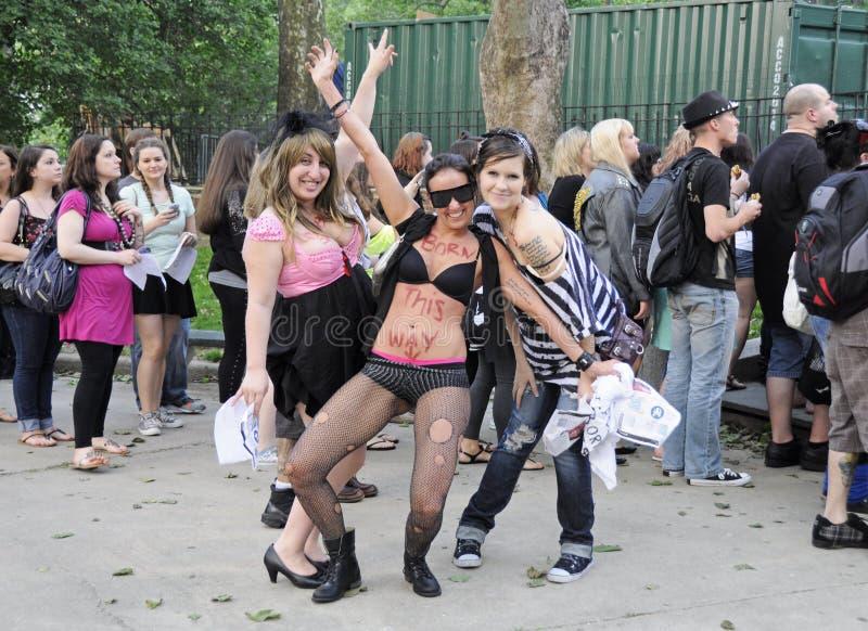 Kleine Monsters Dame Gaga Fans in Central Park royalty-vrije stock foto's