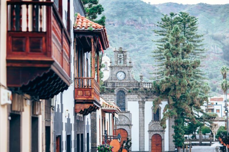Kleine mooie Spaanse stad Teror, Gran Canaria, Canarische Eilanden stock fotografie
