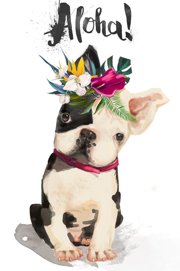 Kleine nette Bulldogge lizenzfreie abbildung