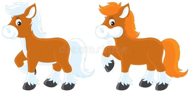 Kleine Poneys stock illustratie