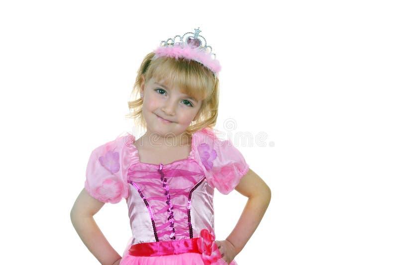 Kleine Prinzessin im Rosa lizenzfreie stockfotografie