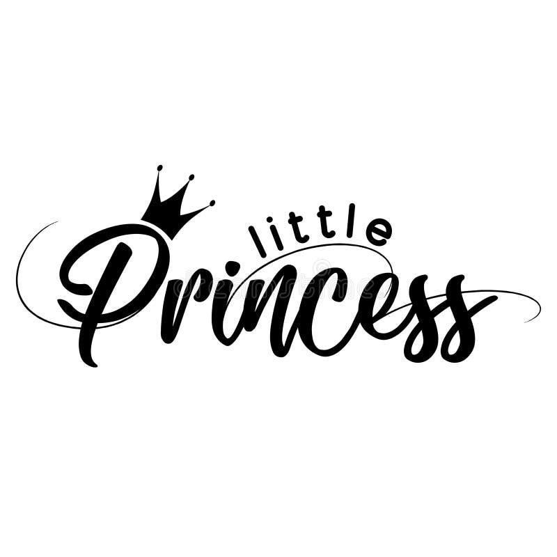 Kleine Prinzessin - Vektorillustration von Lil Princess lizenzfreie abbildung
