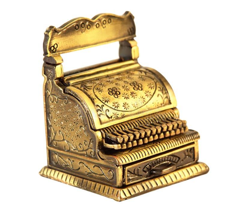 Kleine retro-gestileerde geïsoleerdeg schrijfmachine stock afbeelding