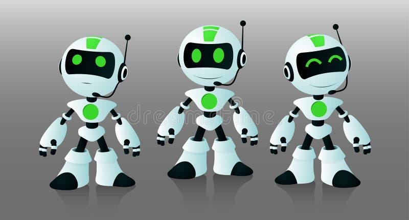 Kleine robotsmedewerkers stock illustratie