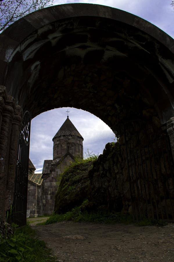 Kleine ronde kapel van Makaravank-kerk in Tavush-Provincie van Armenië royalty-vrije stock afbeeldingen