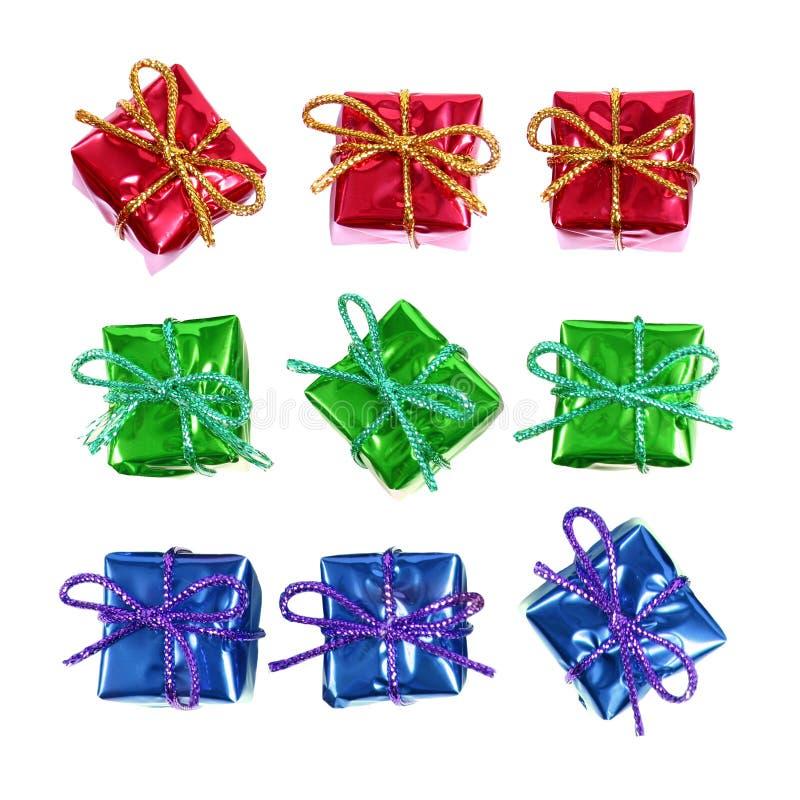 Kleine rote Geschenke lizenzfreie stockfotografie