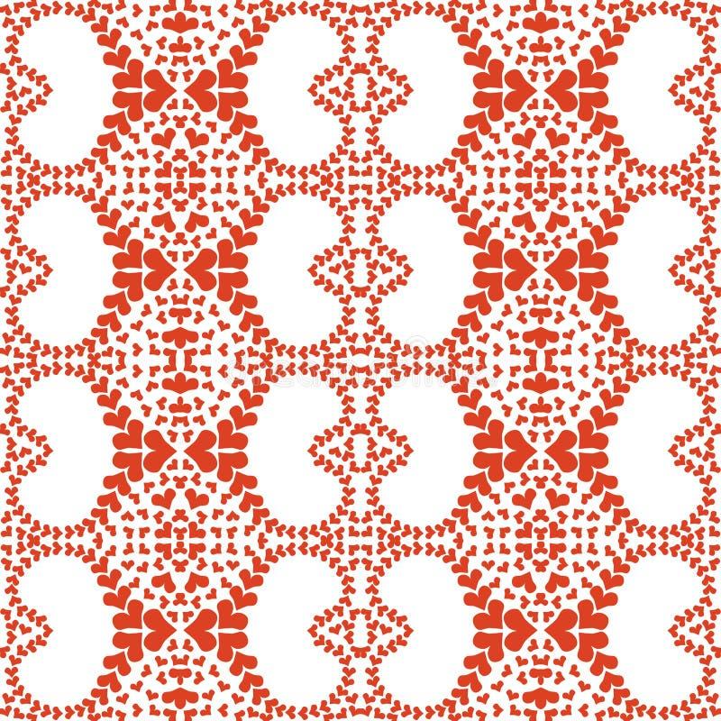 Kleine rote Herz-nahtloses Muster stock abbildung