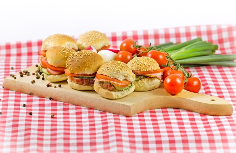 Kleine Sandwiche lizenzfreie stockfotografie