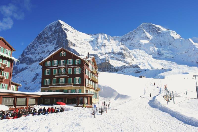 Kleine Scheidegg, die Schweiz stockbild