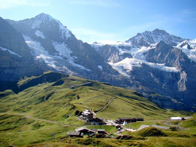 Kleine Scheidegg, Zwitserland royalty-vrije stock foto's