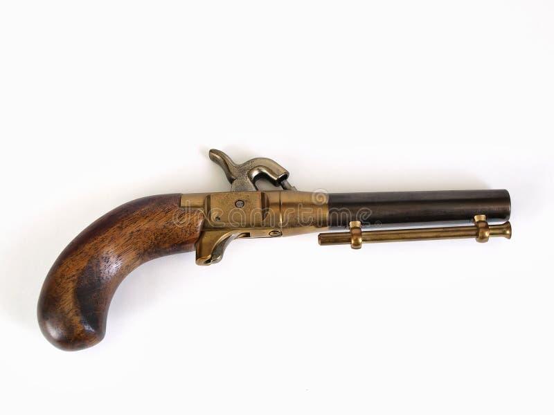 Kleine schwarzes Puder-Pistole stockbilder