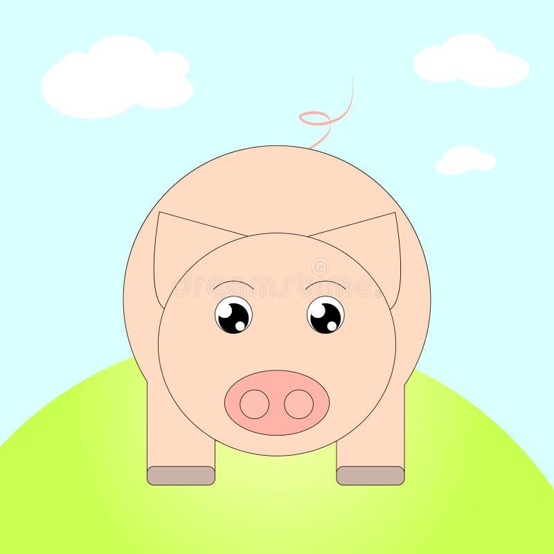 kleine Schweinkarikatur stock abbildung