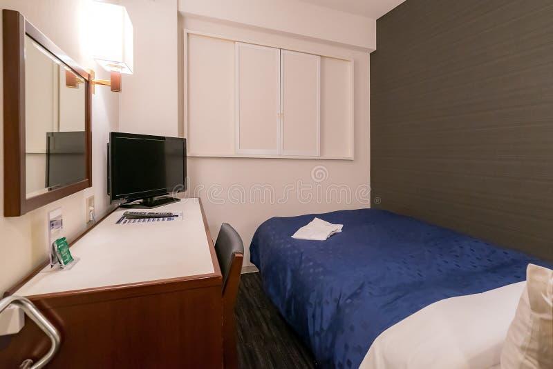 Kleine slaapkamer stock afbeeldingen
