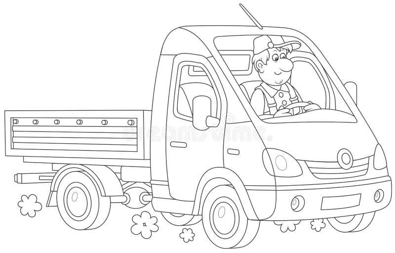 Kleine snelle vrachtwagen stock illustratie