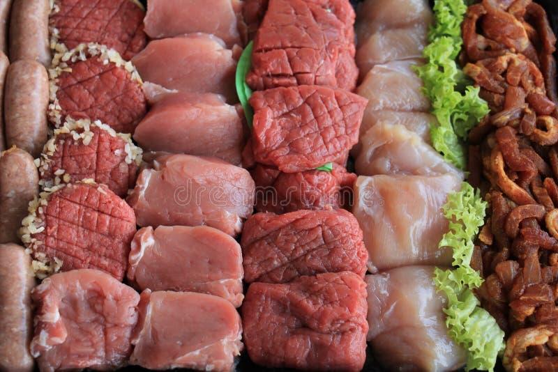 Kleine Stücke Fleisch lizenzfreies stockbild