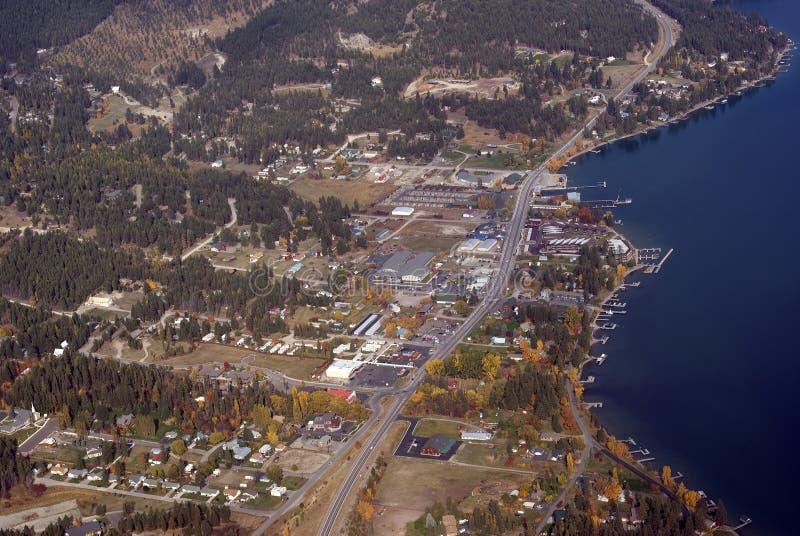 Kleine stad de Westelijke V.S. royalty-vrije stock afbeeldingen
