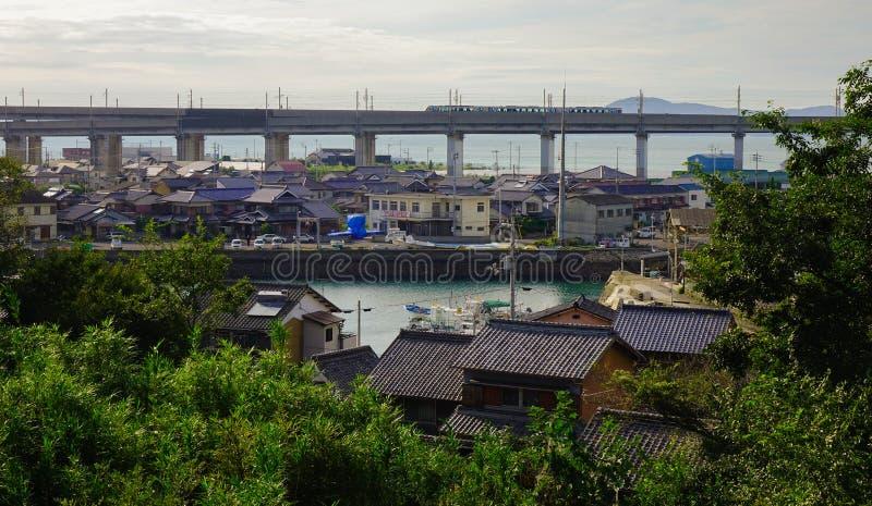 Kleine stad in Okayama, Japan stock foto