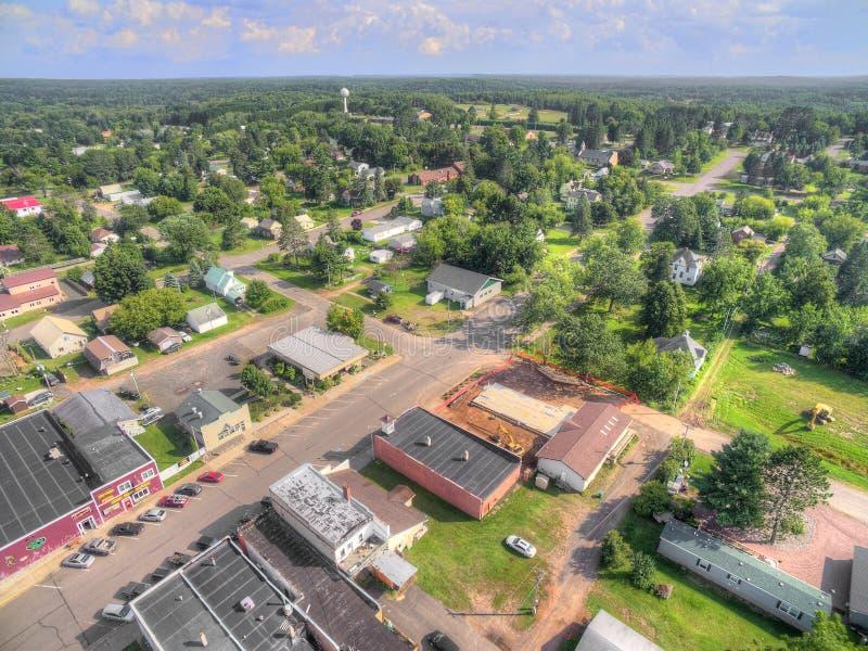 Kleine stad Populair in Noordelijk Wisconsin royalty-vrije stock foto's