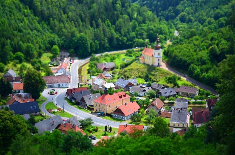 Kleine stads schuine stand-verschuiving royalty-vrije stock foto