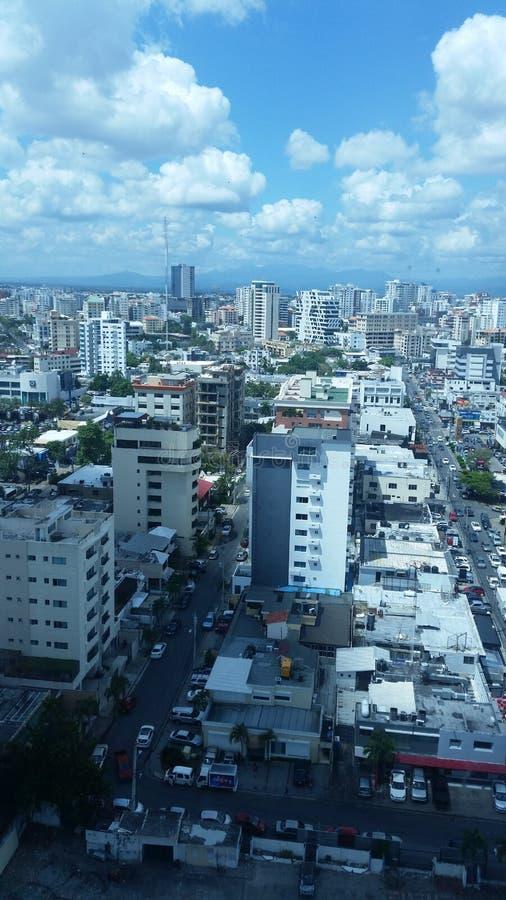 Kleine Stadt in der Entwicklung stockfoto