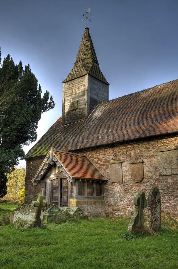 Kleine steenkerk, Engeland royalty-vrije stock foto's