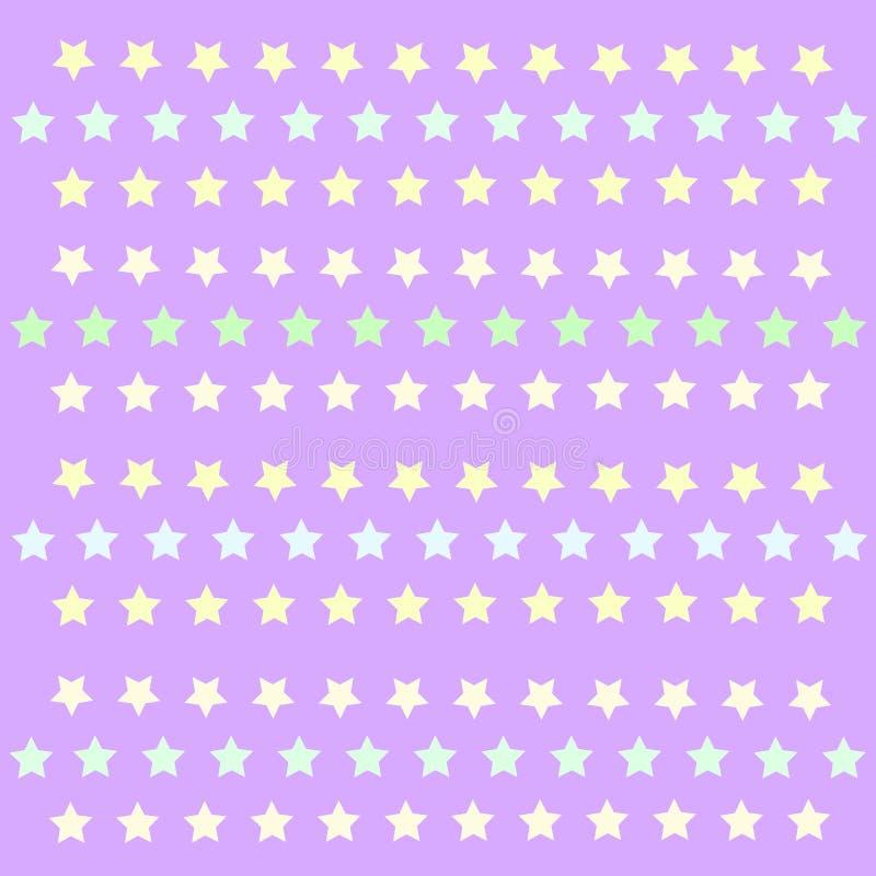 Kleine Sterne patern polkastars lizenzfreie abbildung
