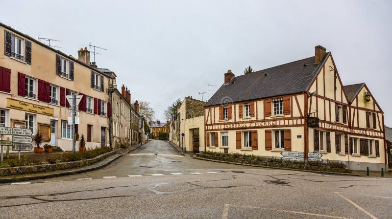 Kleine Straat in een Frans Dorp royalty-vrije stock fotografie