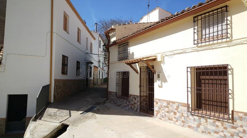 Kleine straat in Huelga Utrera stock afbeeldingen