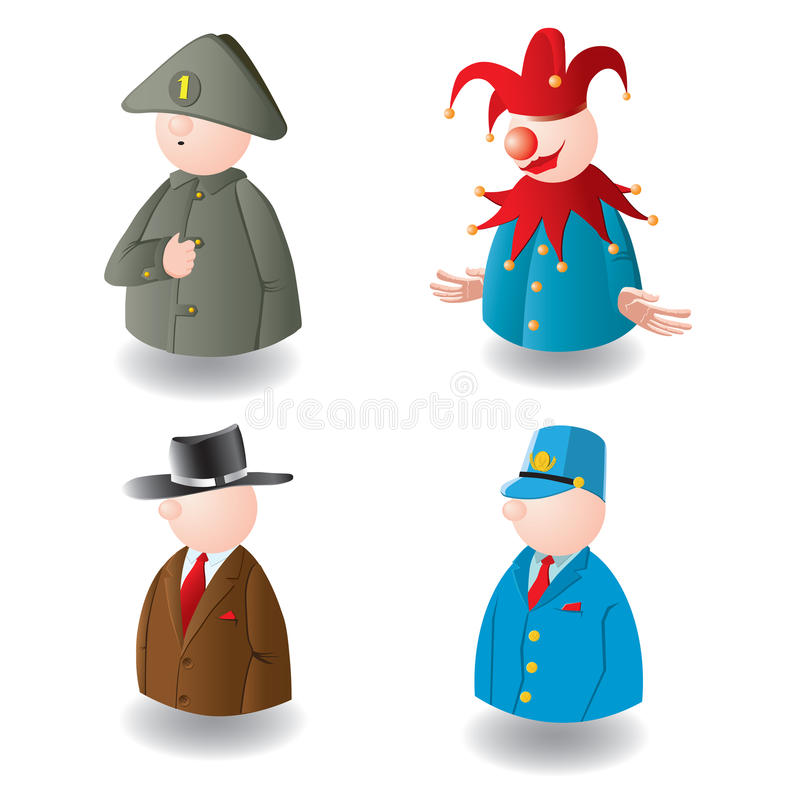 Download Kleine Stuk Speelgoed Kleine Mensen. Vector. Vector Illustratie - Illustratie bestaande uit vector, ontwerp: 10782127