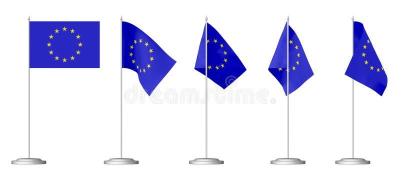 Kleine Tabellenflagge von Europa vektor abbildung