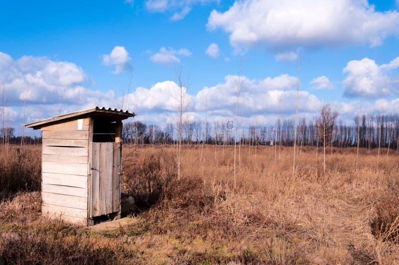 Kleine Toilette stockbild