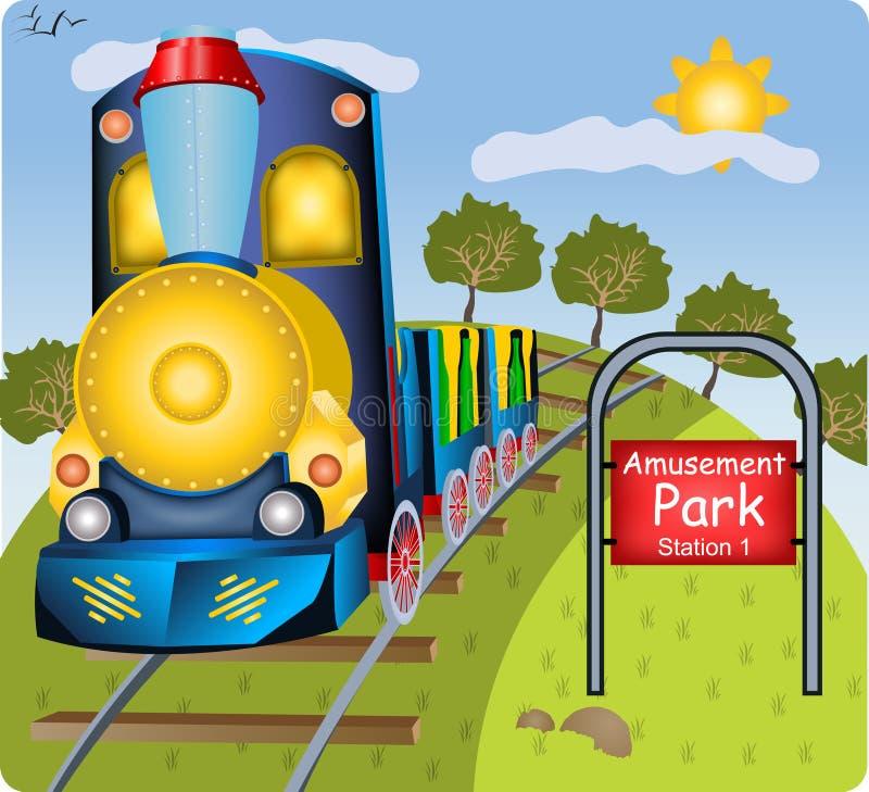 Kleine trein stock illustratie