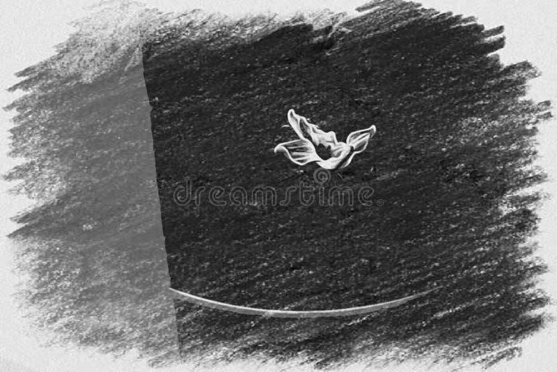 Kleine Uitgebroede Bloem in Grijs royalty-vrije illustratie