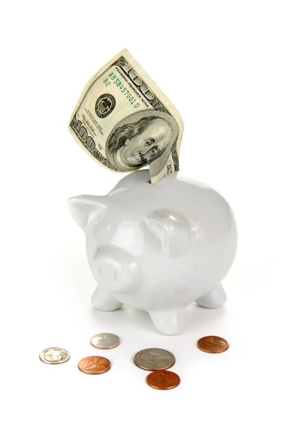 Kleine Veränderung fügt oben großen Dollar hinzu lizenzfreie stockfotografie