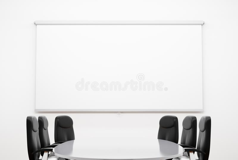 Kleine vergaderingsruimte stock illustratie