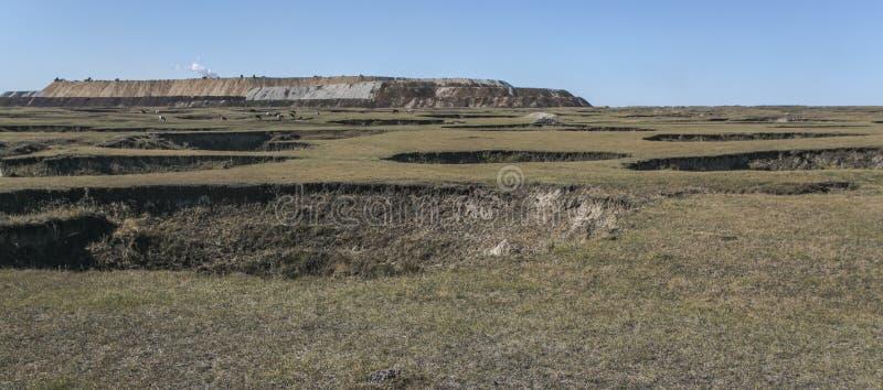 Kleine verlaten kolenmijnen royalty-vrije stock foto