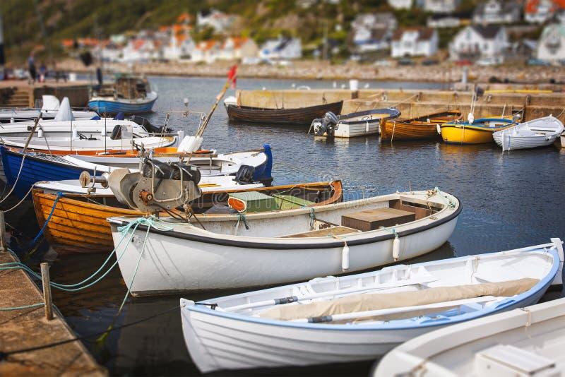 Kleine vissersboten royalty-vrije stock fotografie