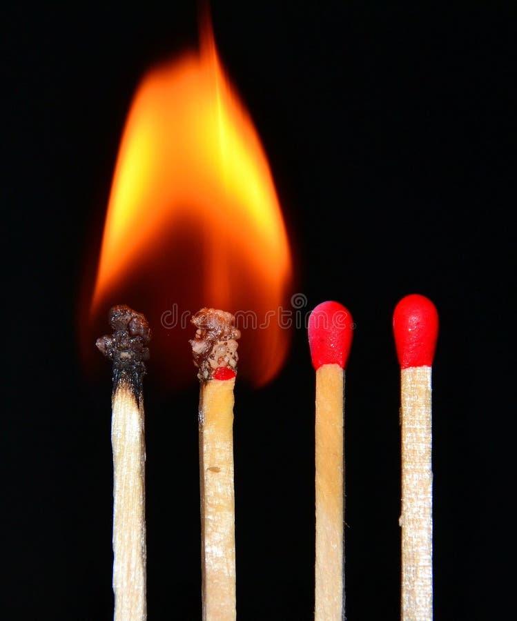 Kleine vlammen royalty-vrije stock afbeeldingen