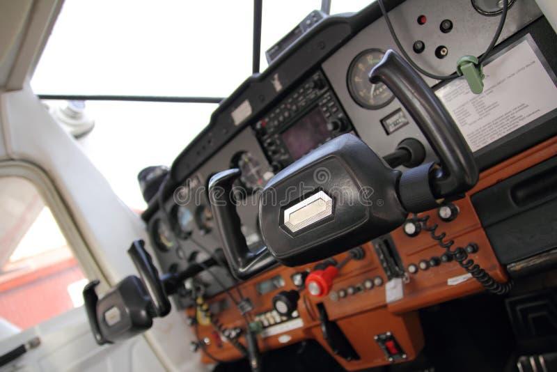 Kleine vliegtuigencockpit royalty-vrije stock afbeelding