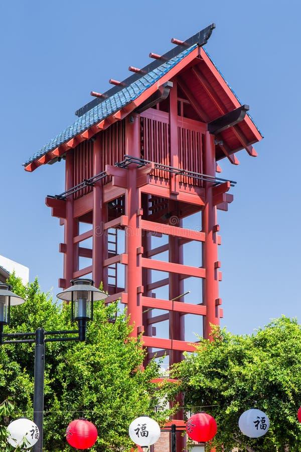 Kleine Watchtower van Tokyo in Los Angeles stock fotografie