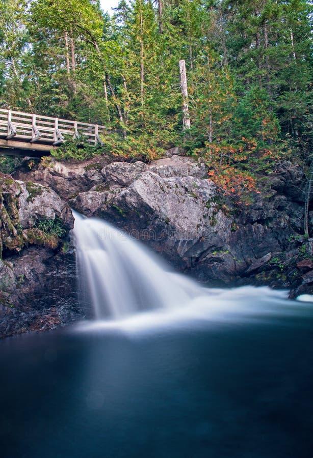 Kleine Watervallen in New Brunswick, Canada stock afbeeldingen
