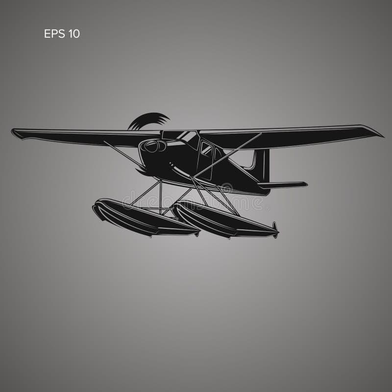 Kleine watervliegtuig geïsoleerde vectorillustratie vector illustratie