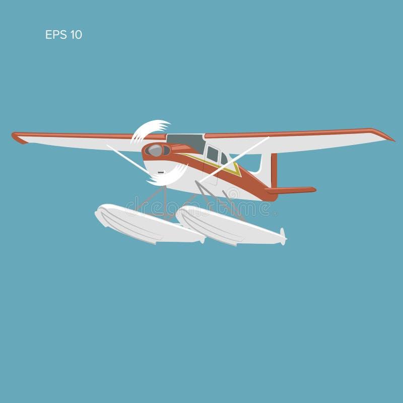 Kleine watervliegtuig geïsoleerde vectorillustratie royalty-vrije illustratie